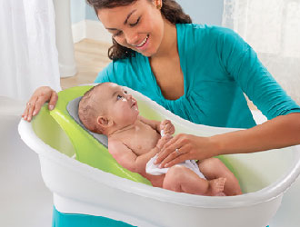 Comfort Height Baby Bath Tub from Summer Infant