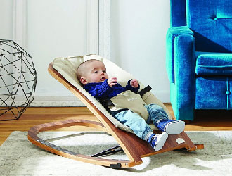 Wave Wooden Rocker from Babyhome