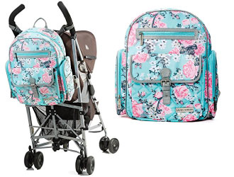 Laura Ashley Baby 4-in-1 Rose Floral Dome Backpack Diaper Bag from Laura dec48166987d4