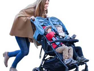 Kuki Twin Stroller from Baby Monsters