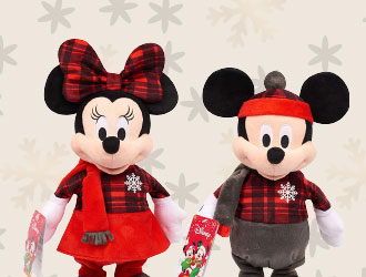 Holiday Dancing Mickey and Minnie from Just Play