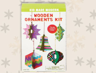 Wooden Ornaments Kit from Kid Made Modern