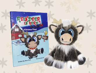 Reindeer In Here Book and Plush Set from Reindeer In Here