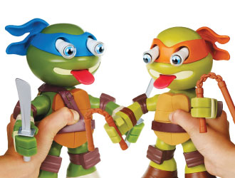 Teenage Mutant Ninja Turtles Squeeze 'Ems Action Figures from Playmates Toys
