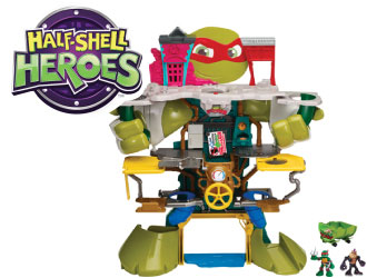 Teenage Mutant Ninja Turtles Half-Shell Headquarters Playset from Playmates Toys