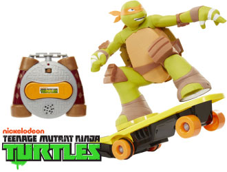 Teenage Mutant Ninja Turtles XPV R/C Skateboarding Mikey from Jakks Pacific