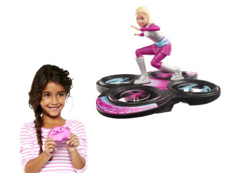 Barbie Star Light Adventure Flying R/C Hoverboard from Mattel