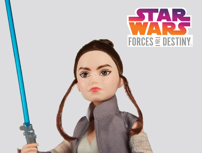 Star Wars Forces of Destiny Rey of Jakku from Hasbro
