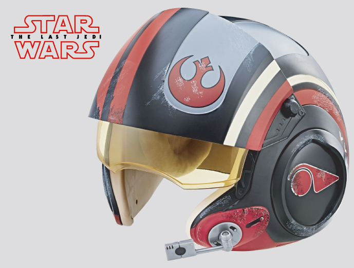 Star Wars The Black Series Poe Dameron Electronic Helmet from Hasbro
