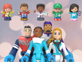 Little People Community Champions and Thank You Heroes Action Figures from Fisher-Price