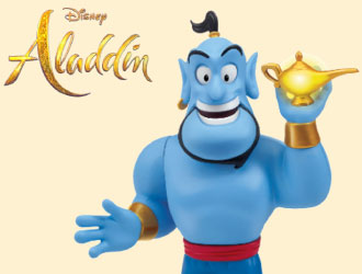 Classic Aladdin Genie Figure from Playmates Toys