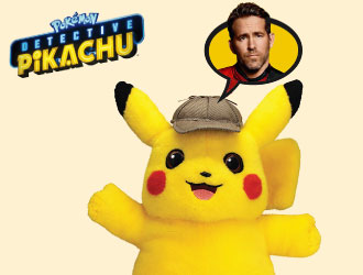 Pokémon Detective Pikachu Talking Plush from Wicked Cool Toys