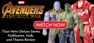 Avengers: Infinity War Titan Hero Deluxe Series Hulkbuster, Hulk, and Thanos