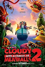 In Theaters, Cloudy with a Chance of Meatballs 2