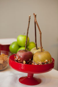 Fall Party Recipe: Trail Mix Caramel Apples