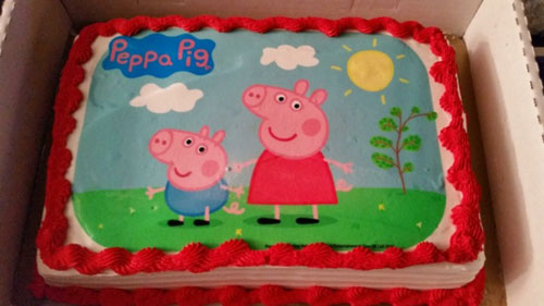 Peppa Pig Cake For A First Birthday Party Celebration It Is Easy To Choose Generic Theme My Daughter Had Giraffe And Second