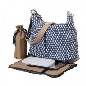 Monaco Mini Geo 2 Pocket Hobo Diaper Bag