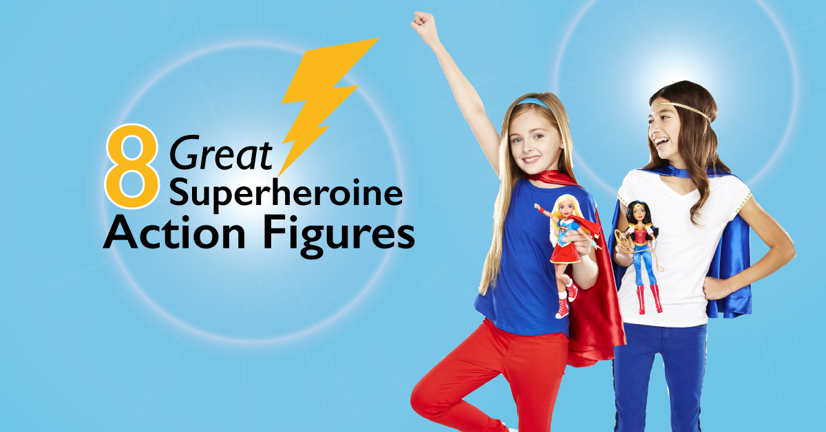 8 Great Superheroine Action Figures