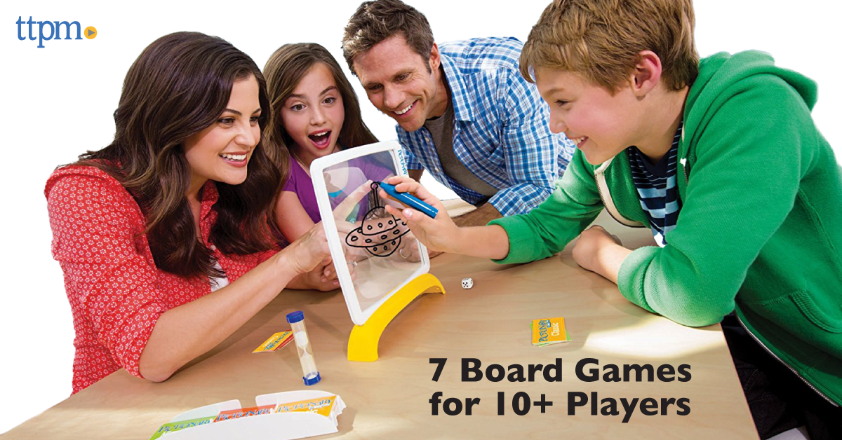 7 Board Games for 10 or More People