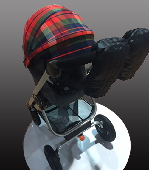 Stokke Scoot Winter Kit in red-and-green plaid