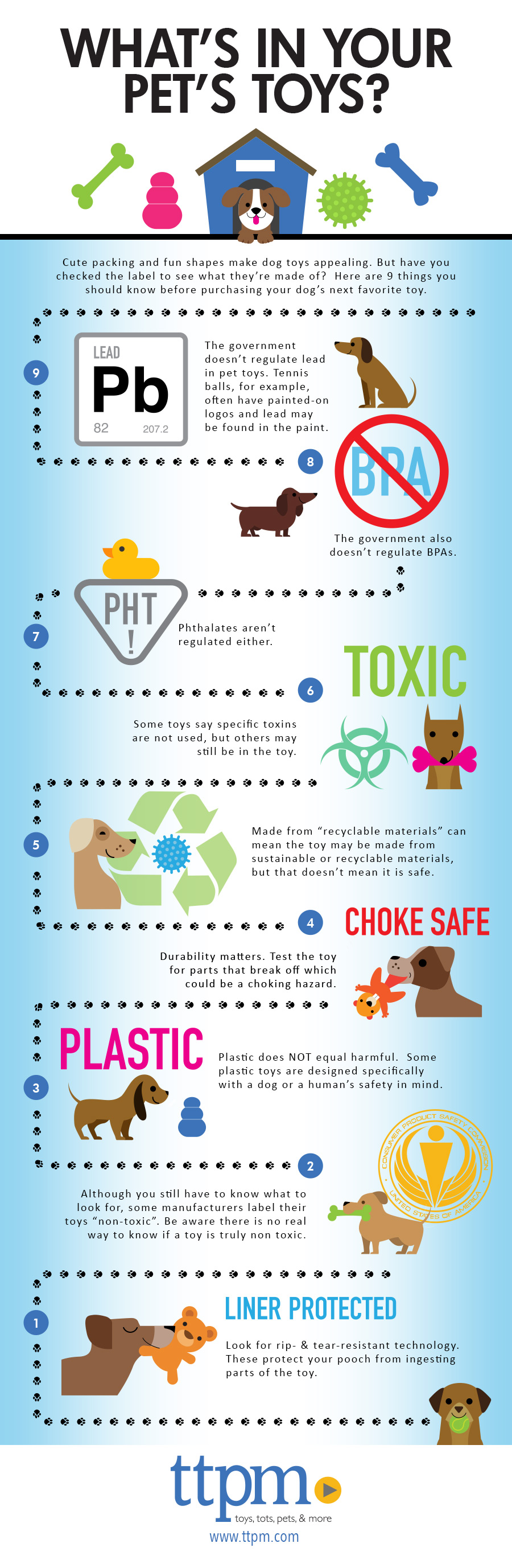what's in your dogs toys infographic