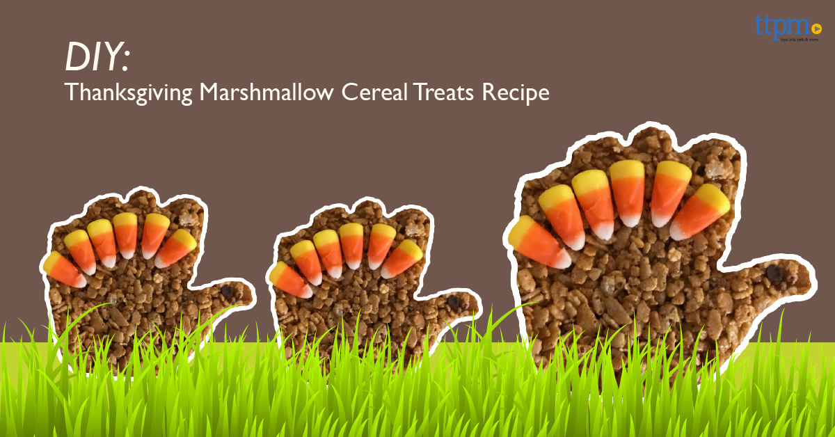 DIY, Thanksgiving Marshmallow Cereal Treats Recipe