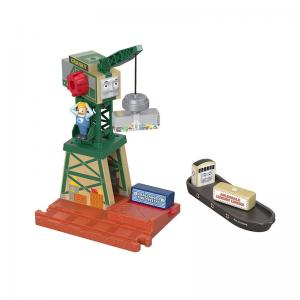Thomas & Friends Wood Cranky at the Docks and Spin & Lift Crane