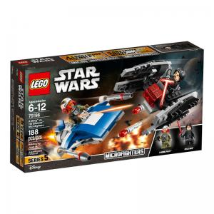 LEGO Star Wars A-Wing vs. TIE Silencer and Ski Speeder vs. First Order Walker Microfighters