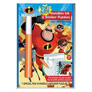 Incredibles 2 Invisible Ink & Sticker Puzzles & Mickey & Friends Sticker Puzzles
