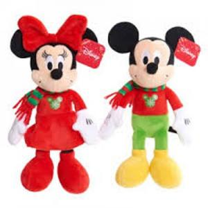 Holiday Mickey and Minnie Plush Figures