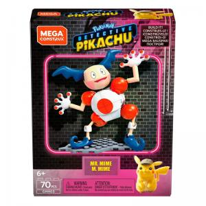 MEGA Construx Pokemon Detective Pikachu Mr. Mime, Lickitung, and Loudred Construction Sets