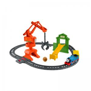Thomas & Friends TrackMaster Press 'N Spin Harold and Cassia Crane & Cargo Set