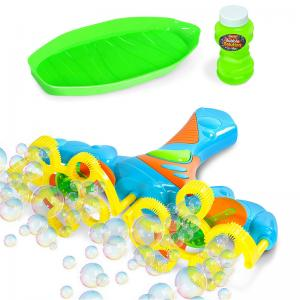Light-Up Bubble Blower, Dolphin Bubble Machine, and Shark Bubble Machine