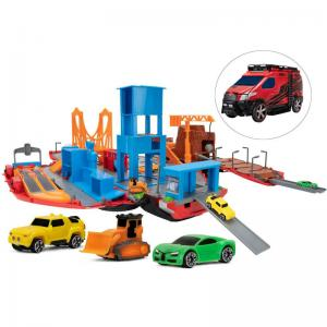 Micro Machines Car Wash, Tuner Garage, Construction, Fire & Rescue, and Super Van City Playsets