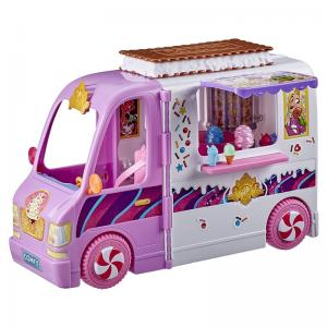 Disney Princess Comfy Squad Sweet Treats Truck, Cinderella's Sweet Scooter, and Dolls