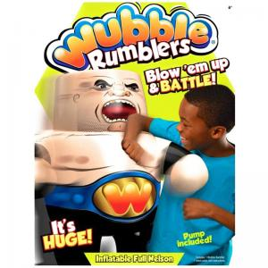 Wubble Rumblers Full Nelson, Furious Fist, and Karate Chop