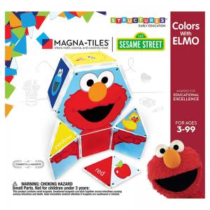 Colors with Elmo Magna-Tiles