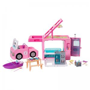 Barbie 3-in-1 DreamCamper and Assorted Barbie and Ken Dolls