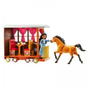 DreamWorks Spirit Untamed Lucky's Train Home and Horses