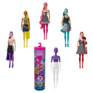 Barbie Color Reveal Color-Block Series and Chelsea Shimmer Series Dolls