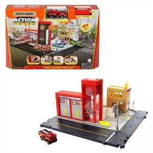 Matchbox Action Drivers Fire Station Rescue and 2021 Moving Parts Assorted Cars