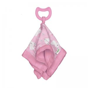 Snuggle Blankie & Cool Nature Teethers, Animal Friend Rattle, and Reusable Face Mask