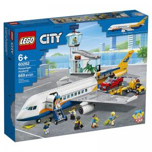 LEGO City Central Airport, Airshow Jet Transporter, and Passenger Airplane Sets