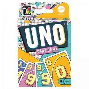 UNO Iconic Card Game 70s, 80s, 90s, and 00s