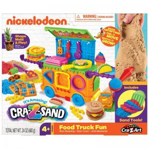 Nickelodeon Cra-Z-Sand Food Truck Fun and Tri-Color Bucket of Sand