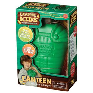 Campfire Kids Canteen with Built-In Compass