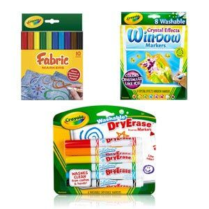 Dry-Erase, Bright Fabric, & Crystal Effects Window Markers