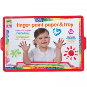 Alex Jr. Finger Paint Paper & Tray